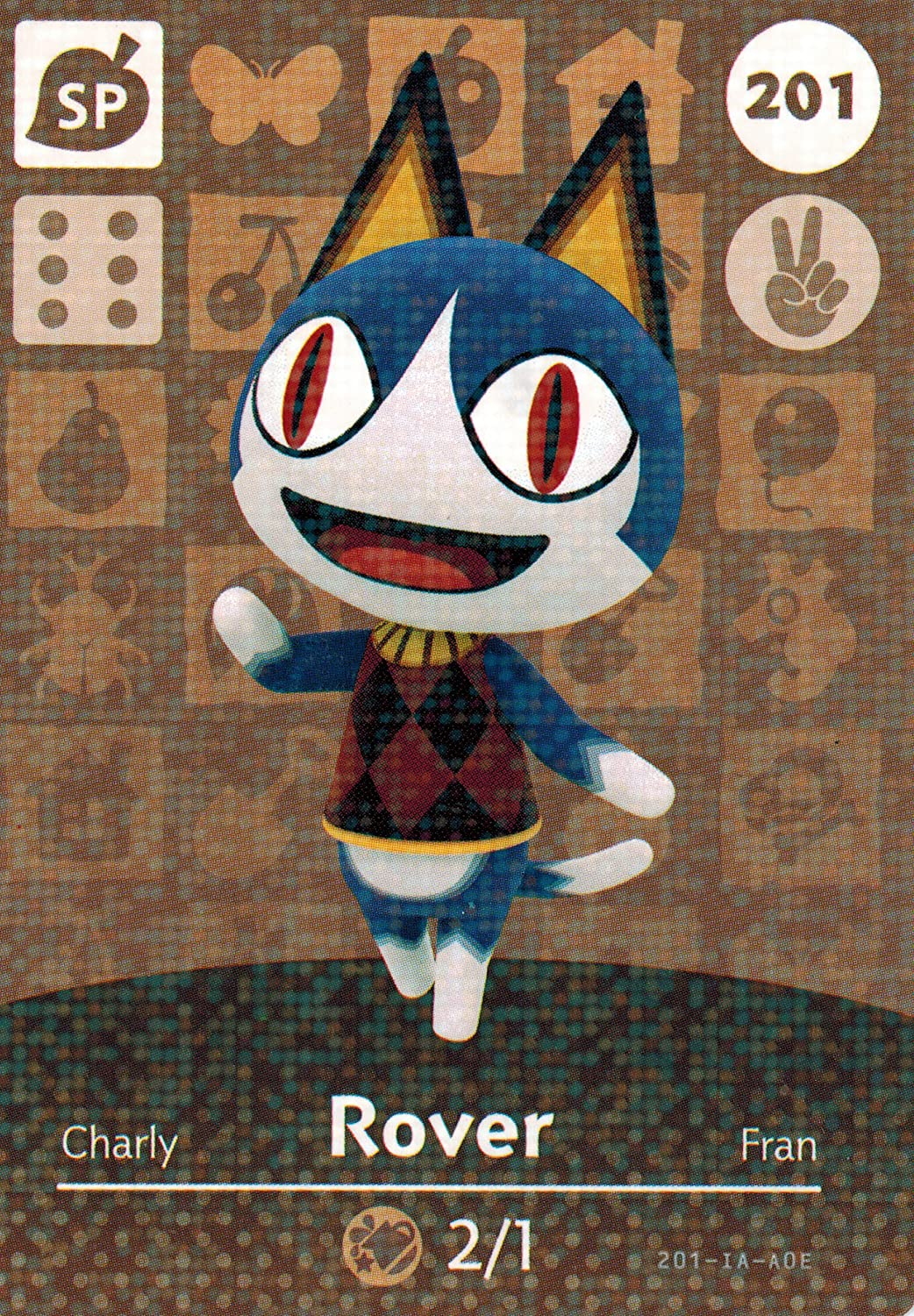 Nintendo Direct OFFicial mail order sale of manufacturer Animal Crossing Happy Home Amiibo Rover Card 2 Designer
