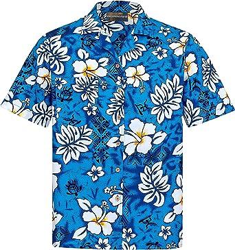 Camisa Hawaiana | Hombre | Señores | 100% Algodón | Talla S - 8XL | Manga Corta | Muchos Colores | Flores | Flor | Hibisco | Tropical | Aloha | ...