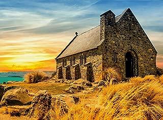 FKG Adult Jigsaw Puzzle Ocean Sunrise Ancient Church Lake Tekapo New Zealand 500-Pieces