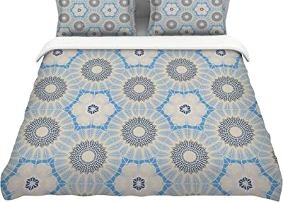 Kess InHouse Crystal Walen Midnight Moon Flower King Cotton Duvet Cover 104 x 88 104 x 88