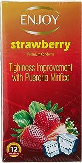 Enjoy Premium Condom 12 Pcs Strawberry