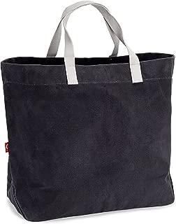 EJOY Waxed Canvas Market Tote - Large Travel Bag | Reusable Grocery Shopping Bag | Farmers Market Tote Bag | Durable Handbag | Vintage Look