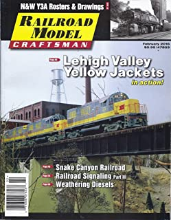 Railroad Model Craftsman Magazine February 2016 - Cover: Lehigh Valley Yellow Jackets)