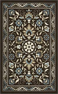 Maples Rugs Accent Rug - Florence 2'6 x 3'10 Non Skid Hallway Entry Rugs Accents [Made in USA] for Kitchen and Entryway, Coffee Brown