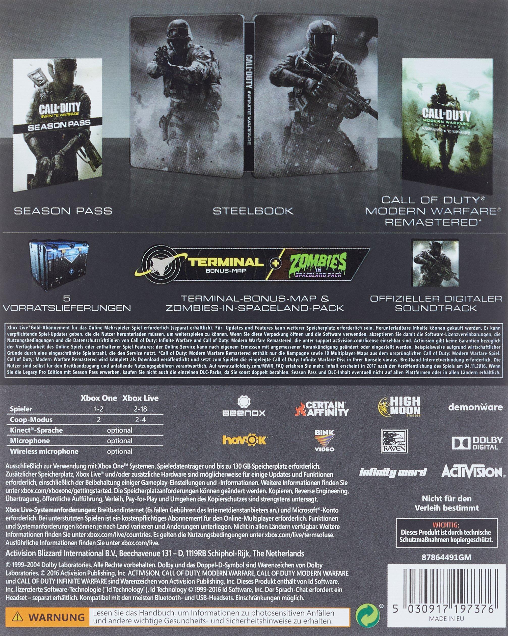 Call Of Duty: Infinite Warfare - Legacy Pro Edition [Importación ...