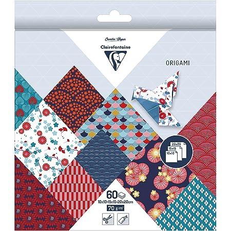 Kissral Origami Papier Motivpapier Motive Beidseitig Bedruckt Dekopapier f/ür Bastelarbeiten Karten Farbiges Farben f/ür Weihnachten Origami DIY Kunst und Bastelprojekte 48Blatt 15 x 15cm