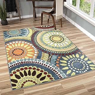 Orian Rugs Veranda Indoor/Outdoor Merrifield Collage Area Rug, 65