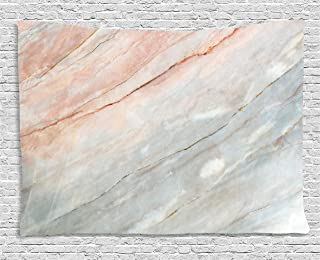 Ambesonne Marble Tapestry, Onyx Stone Textured Natural Featured Scratches Illustration, Wide Wall Hanging for Bedroom Living Room Dorm, 80