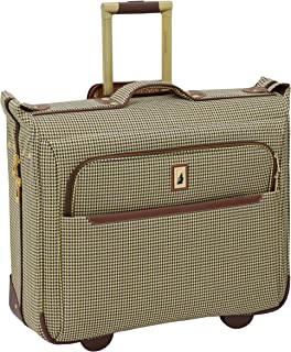 "London Fog Cambridge Ii 44"" Wheeled Garment Bag, Olive Houndstooth (Multi) - 9044-OLV"