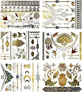 Terra Tattoos Silver Metallic Tattoos - 75 Jewelry Festival Tattoos