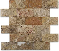 Scabos 2X4 Travertine CNC Arched 3-D Mosaic Tile
