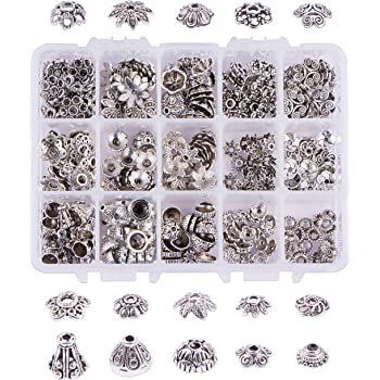 Vintage Angel Wing Beads,BETOY 160 pcs Silver Angel Wing Spacer Tibetan Wings Spacer Beads Vintage Angel Wing Beads for Bracelet Necklace Jewelry Making Findings with Container Box Silver