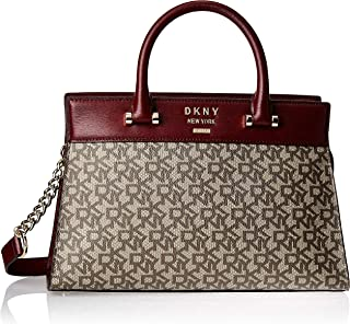 DKNY Women's Satchel, Ecru/Blood Red - R93DJD67