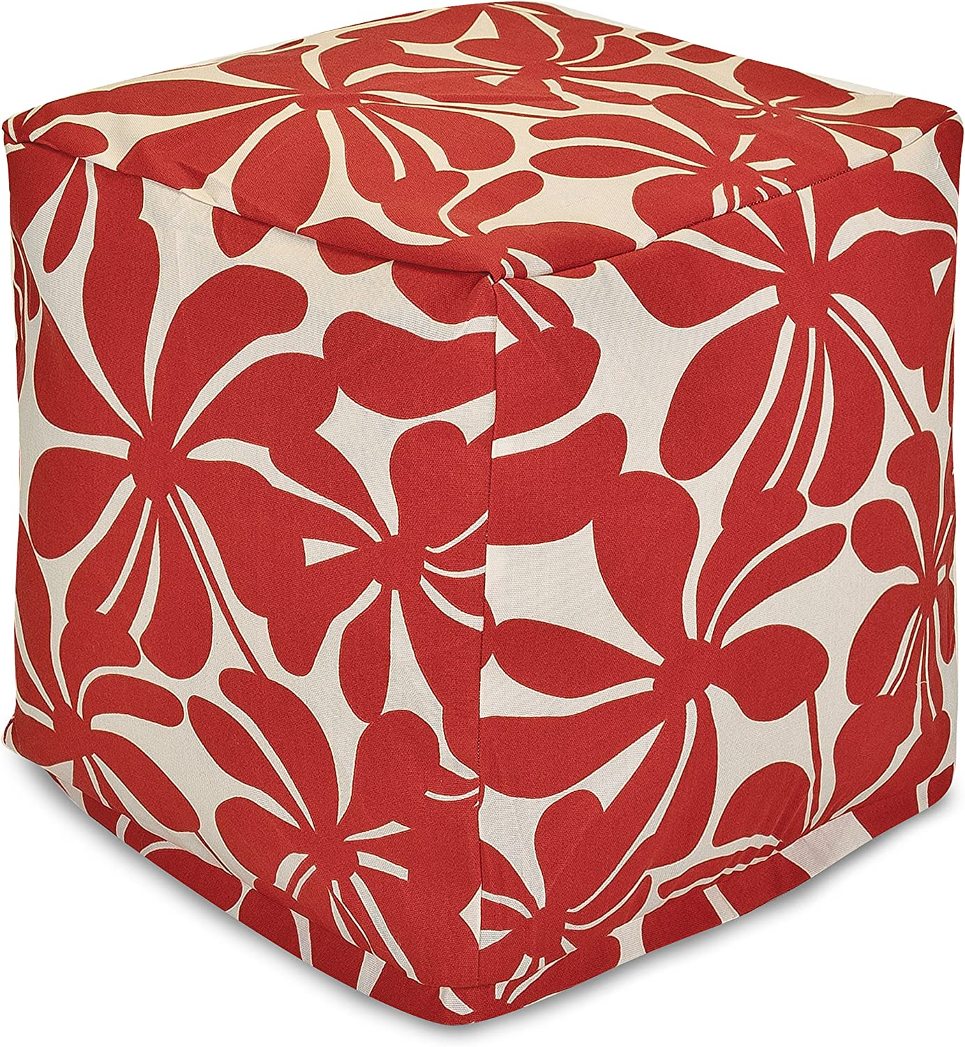Majestic Home Goods Red Plantation Small Cube