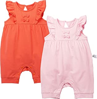 COTTON FAIRY Baby Girls Lovely Bows Rompers Lace Sleeve Jumpsuit Onesies 2 Sets