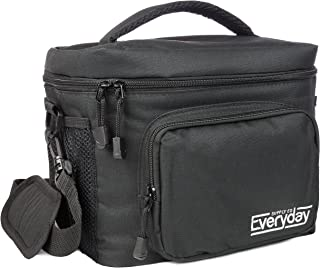 Insulated Lunch Bag for Men   Adult Lunch Box   Lunch Boxes for Men   Cooler Bags   Lunchbox by Everyday Supply Co   Non-Toxic Stain Resistant Nylon   10 x 7.5 x 9 Inches Black