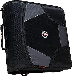 Case-it King Sized Zip Tab 4-Inch D-Ring Zipper Binder with 5-Tab File Folder, Black, D-186-BLK