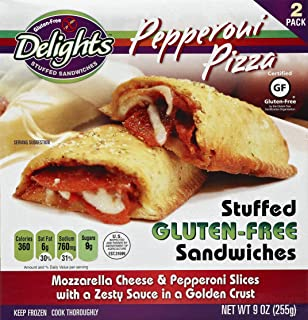 Gluten Free Delights Pepperoni Pizza Stuffed Sandwich, 9 Ounce (Pack of 6)