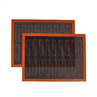AmazonCommercial Lot de 2Tapis de cuisson en silicone pour éclairs, 40 x 30cm