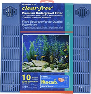 Penn Plax Premium Under Gravel Filter System - for 10 Gallon Fish Tanks & Aquariums