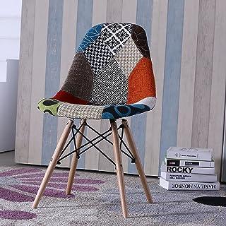 Homely - Silla de Comedor o Cocina Patchwork de diseño nórdico-Scandi, Inspiración Silla Tower