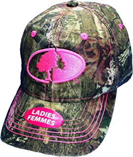camo hat with pink browning symbol