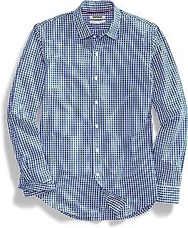 Best blue and white checkered men's dress shirt Reviews