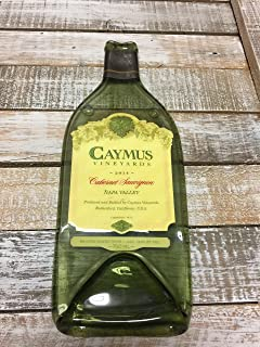Landfilldzine Caymus 2015 Napa Valley 1 Liter - Cabernet Sauvignon Melted Wine Bottle Cheese Serving Tray - Wine Gifts