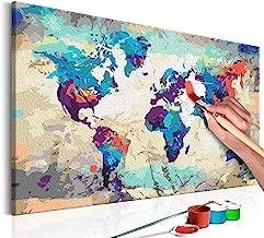 Malset mit Holzrahmen 120x80 Leinwand Erwachsene Gemälde Kit DIY n-A-0179-d-e