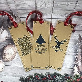 3 segnalibri natalizi personalizzati con nome o frase per regali di Natale segnaposto omaggio fine festa omaggio ai client...
