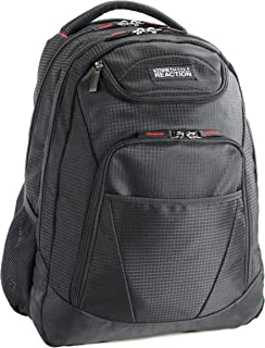 """Kenneth Cole Reaction Tribute Dual Compartment 17.0"""" Laptop & Tablet Casual Travel Backpack, Black"""