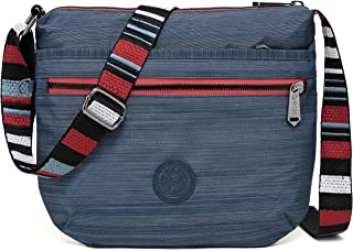 BEKILOLE Crossbody Bags for Women Shoulder Bag Waterproof Nylon Travel Purses
