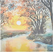 Decalac Canvas Arts for wall, Design of River sunset oil painting, CANVS30-180105