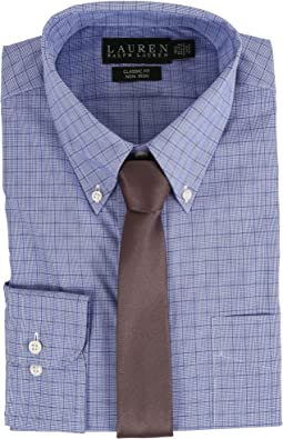 Glen Plaid Classic Button Down Shirt
