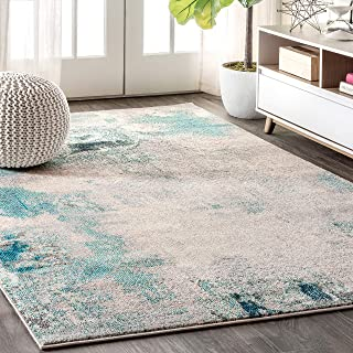 JONATHAN Y CTP104 Contemporary POP Modern Abstract Vintage Cream/Blue 5 ft. x 8 ft. Area Rug