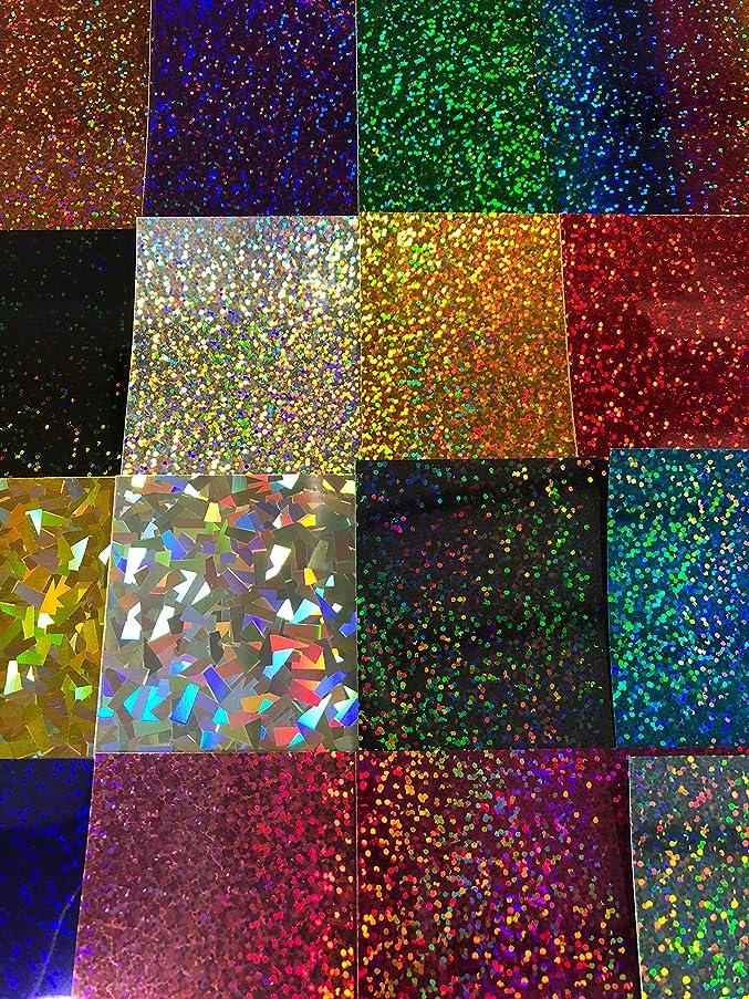 Siser Holographic HTV Heat Transfer Vinyl for T-Shirts Set of 16 Colors 12