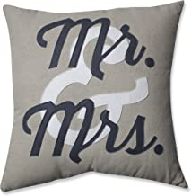 Pillow Perfect Mr. and Mrs. Throw Pillow, 18-Inch