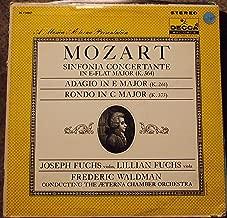 A Musica Aeterna Presentation: Mozart: Sinfonia Concertante in E-flat Major (K. 364); Adagio in E Major (K. 261); Rondo in C Major (K. 373)
