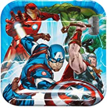 American Greetings Avengers Epic Party Supplies, Disposable Paper Dinner Plates, 8-Count