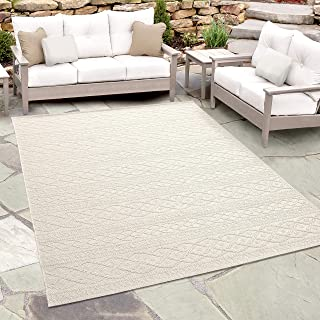 Orian Rugs Jersey Home Indoor/Outdoor Organic Cable Knit Sweater Area Rug, 7'7