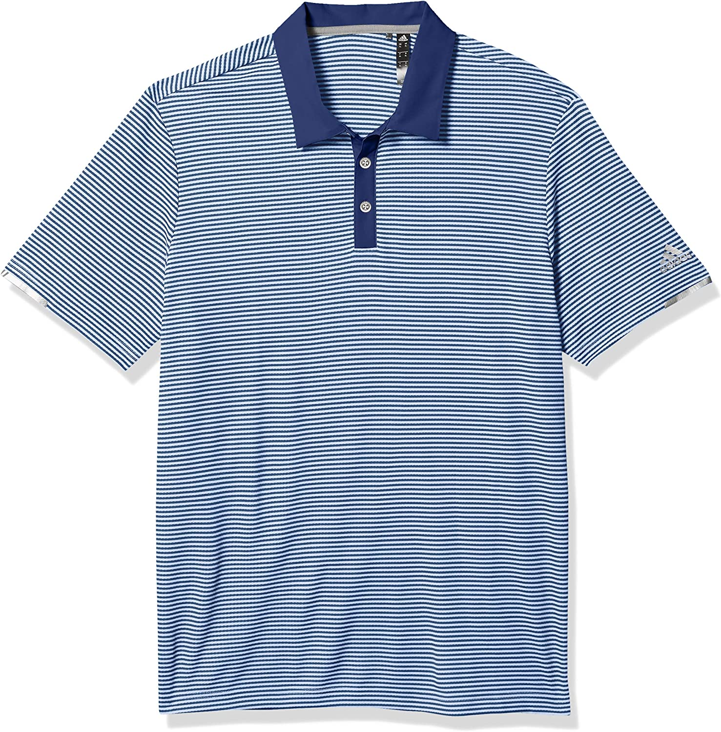adidas Men's 2021new shipping free Max 82% OFF Heat.rdy Striped Shirt Polo