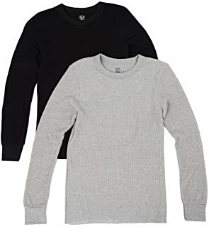 Fruit of the Loom Men's 2 Pack Classic Midweight Waffle Thermal Tops