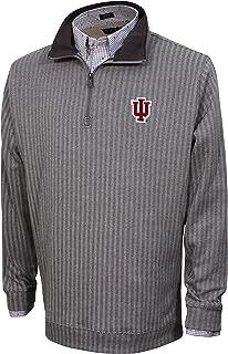 Vesi NCAA Men's Herringbone Quarter Zip, Charcoal/Gray, Large
