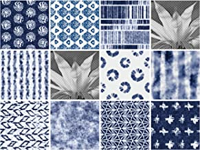 the Nisha 24 PC Pack Art Eclectic Peel and Stick Wall Sticky Backsplash Vinyl Waterproof Removable Tile Sticker Decals for Bathroom & Kitchen, 4x4 Inch, Blues 1277