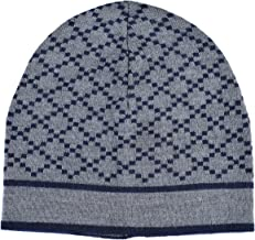 Gucci Unisex Multi-Color 100% Wool Beanie Hat One Size Gray/Blue