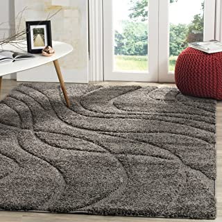 Safavieh Florida Shag Collection SG471-8080 Grey and Grey Area Rug (8'6