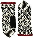 Hestra Winterhandschuhe für Damen, Wolle M Schwarz/Weiß