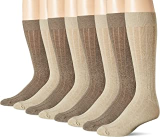 Dockers Men's 4 Pack Dress Wide Rib Crew Socks