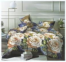 طقم ملاءة سرير فاشن كلوب من قطعتين من المايكروفيبر عليها طباعة بتصميمات سفرة من دياركو مقاس سينغل 160× 220 سم