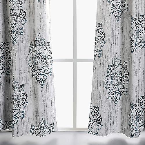 Damask Living Room Curtains: Amazon com
